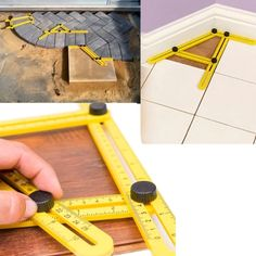 homemade tools Item ID: Upgraded Aluminum Multi-Angle Folding Ruler will help you complete numerous home projects in no time. With the Multi-Angle Folding Ruler, you c Homemade Tools, Diy Tools, Hand Tools, Crafting Tools, Woodworking Projects, Diy Projects, Woodworking Equipment, Woodworking Bandsaw, Woodworking Furniture