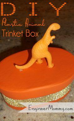 DIY Plastic Animal Trinket Box   Engineer Mommy
