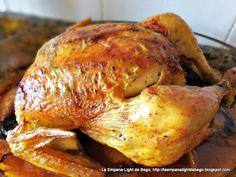 Pollo Casero Al Horno Relleno de Manzanas y Ciruelas Pasas