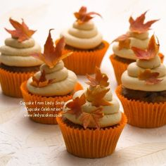 Falling leaves cupcakes from Lindy's 'bake