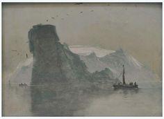 View of Fugloy, 'Bird Island', Peder Balke, 1847