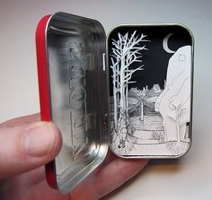 Artemis and the White Bear by Jim Doran Tsmall dioramas in Altoids tins