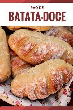 Pãezinhos de batata-doce    Esses pães feitos com batata-doce saõ macios e simplesmente deliciosos. Confira essa receita fácil e faça pão caseiro.