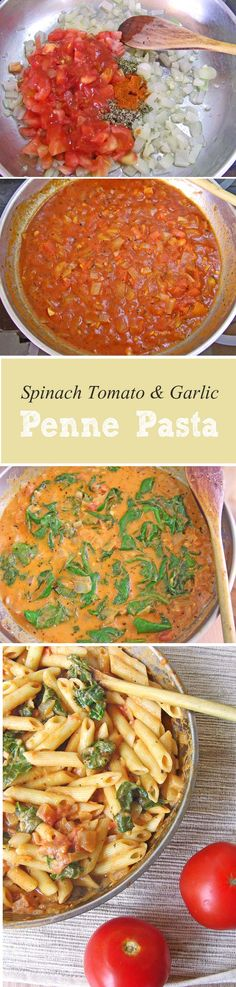 ...a thick, as far as pasta dishes go, hearty meal packed with flavor, perfect for a cold winter day. #pasta #penne #tomatoes