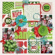 Santa - Scrapbook.com  3 dimensional. Could work for framing.