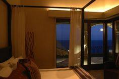 Casa Adriana  Drapery valence has recessed upper lighting