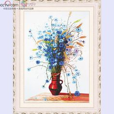 cross stitch from paintings | embroidery paintings card ribbon embroidery 3d cross stitch paintings ...