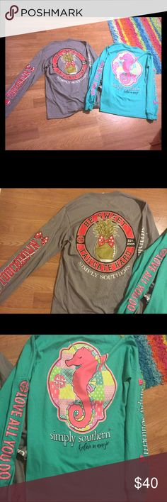 NWOT Simply Southern Small-2 shirts 2 shirts, both new without tags and long sleeve Simply Southern Tops Tees - Long Sleeve
