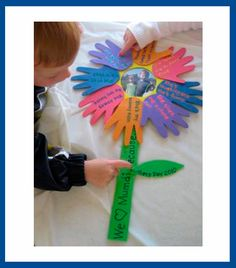 14 Handprint Flower Crafts for Mother's Day {Round Up - Fun Handprint Art Kids Crafts, Crafts To Do, Preschool Crafts, Projects For Kids, Spring Crafts, Holiday Crafts, Santa Crafts, Fathers Day Crafts, Mom Day