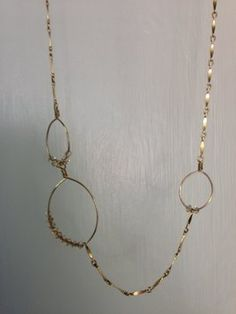 80267186c Devon Dowd Crystal necklace with gold chain. Crystal Necklace, Gold Necklace,  Devon,. Tradesy
