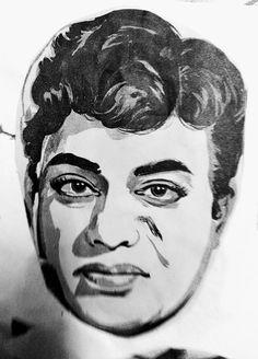 Telugu, Illustrators, 1960s, Sketches, Actors, Portrait, Artist, Drawings, Headshot Photography