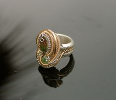 size 5 ring // tendai designs // tri color by TendaiDesigns