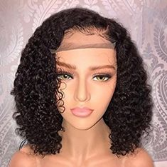 Jessica Hair Lace Front Wigs Human Hair Short Bob Wigs Pre Plucked With Baby Hair Curly Brazilian Remy Hair Wigs For Black Women inch with density) Brazilian Hair Wigs, Remy Hair Wigs, Remy Human Hair, Human Hair Wigs, Short Bob Wigs, Short Bob Hairstyles, Wig Hairstyles, Black Hairstyles, Kinky Curly Hair