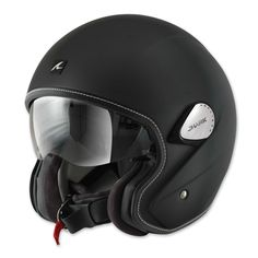 Shark Heritage Matte Black Open Face Helmet