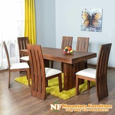 Mamta Decoration Sheesham Wood Dining Table Set with 6 Chair for Living Room (Teak Finish) 4 Seater Dining Table, Buy Dining Table, Kitchen Table Bench, Modern Dining Table, Dining Room Sets, Dining Area, Wooden Dining Table Designs, Dinning Table Design, Solid Wood Dining Set