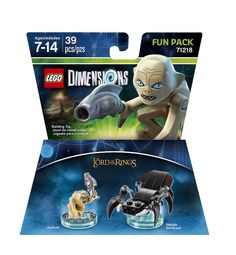 Lego Dimensions Fun Pack: Gollum (Gollum and Shelob the Great included)