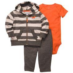 3-Piece Striped Cardigan Set | Baby Boy New Arrivals