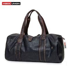 MAGIC UNION Brand Oil Wax Leather Handbags For Men Large-Capacity Portabl... New #BrandNameMAGICUNION