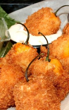 Im pinning this for the batter recipe. Fried Habanero Poppers. Try these with our farm-fresh habaneros -- if you dare.