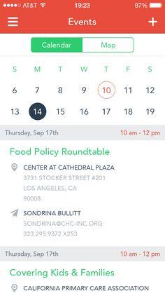 Calendar with map app