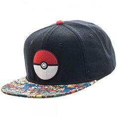 648b4a657a72 Pokemon- Pokeball Sublimated Snapback Hat Size ONE SIZE Pokemon Logo