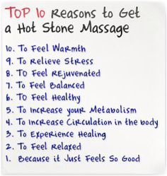 10 reasons to get a hot stone massage