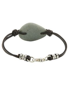 Handmade from natural Cape Cod beach stones. Just as no two natural stones are exactly alike, each piece of this jewelry is also individually unique.