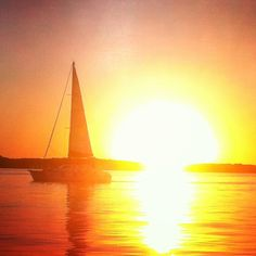"Texas Sunset on Lake Texoma. Just off ""The Point"" on 289.... N. of Pottsboro, TEXAS"