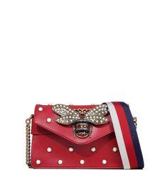 """Купить Кожаная сумка """"Broadway"""" Gucci 453778 217/0A9 для женщин , цвет красный в интернет-магазине брендовой одежды, обуви и аксессауров Helen Marlen"""