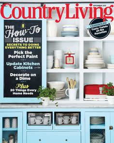 Country living magazine september 2015 how to issue paint kitchen cabinets diy