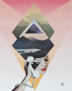 s mixed-media collages art коллаж, дизайн вдохновение, психо Art And Illustration, Illustrations, Art Du Collage, Collage Art Mixed Media, Collage Artists, Collages, Geometric Patterns, Geometric Shapes, Web Design