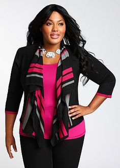 Ashley Stewart: Cascade Cardigan