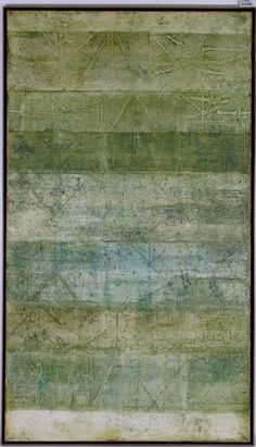 Vasudeo S. Gaitonde (1924-2001), Untitled, 1972. Oil on canvas. 178cm H x 101.5cm H. (Jahangir Nicholson Museum of Modern Art).