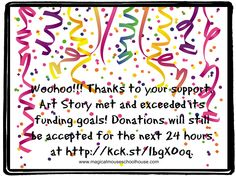 #ArtStory is funded! Thank you for your support!