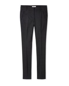 Window pane ankle pant