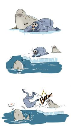 Seal by EunDari on DeviantArt Tf2 Funny, Funny Comics, Dorkly Comics, Team Fortress 2 Medic, Warrior Cat Oc, Tf2 Memes, Team Fortess 2, Baby Seal, Funny Games