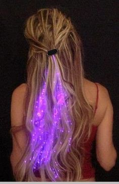 Starlight Strands Illuminating Fiber Optic Hair Extensions & Rave Toy