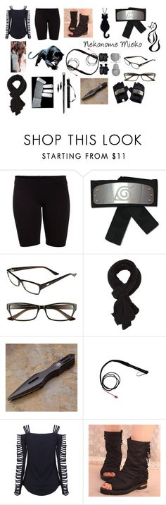"""""""Mieko (Naruto Shippuden OC)"""" by corinneelisabethbrown ❤ liked on Polyvore featuring Pieces, I.Line, Charlotte Russe, Religion Clothing and IYATO"""