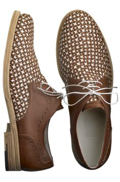 Salvatore Ferragamo woven-leather brogues
