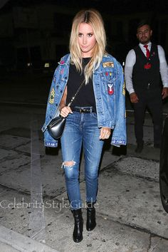 Ashley Tisdale Does Double Denim Right In A GOLD E
