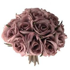 Dried Look Rose Bouquet Pink Rose Bouquet, Rose Wedding Bouquet, Look Rose, Artificial Flowers And Plants, Dusty Rose, Dusty Pink, Green Leaves, Pink Color, Colour