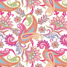 Get ready for spring with our Paisley gift wrap!  #Paisley #Spring #Pink