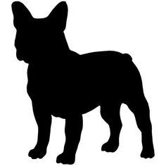 French Bulldog Decal Sticker (Black, 8 inch) by Stickerslug, http://www.amazon.com/ Black and a white!