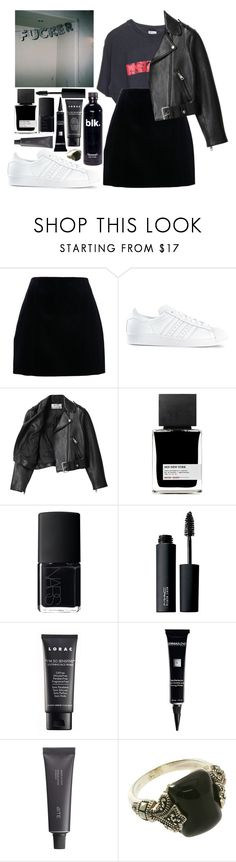 """""""I know where I belong"""" by velvet-ears ❤ liked on Polyvore featuring Carven, adidas, Acne Studios, MiN New York, NARS Cosmetics, MAC Cosmetics, LORAC, Dermablend and Bite"""