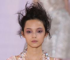 5 Runway-Inspired Winter Makeup Trends: Lilac Eyes. The Trend: A halo of pale purple, as seen at the Rochas spring show, is softer and easier to wear than a basic black smokey eye (and instead of enhancing dark circles, the warm color actually helps hide them). Run a chunky lavender eye crayon all around eyes at lash line, then smudge it with your pinkie finger for a diffused effect. #SelfMagazine