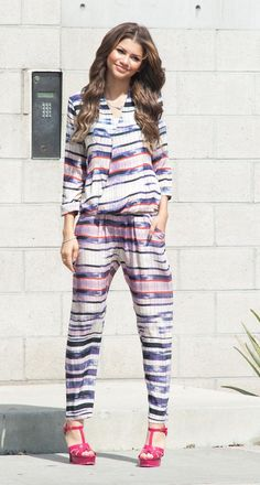 Zendaya doing a photoshoot in Beverly Hills, California