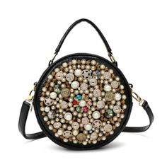 Brand Name:Ameiliyar Item Type:Handbags Model Number:Beaded portable pearl round bag Lining Material:Cotton Gender:Women Handbags Type:Messenger Bags Number of Handles/Straps:Single Pattern Type:Patchwork Exterior:None Shape:Circular Hardness:Soft Style:Classic Closure Type:Zipper Main Material:PU Occasion:Party Decoration:Diamonds,Criss-Cross,Sequined Interior:Interior Zipper Pocket,Interior Slot Pocket,Cell Phone Pocket Popular elements : :Diamond Internal structure of the bag:mobile phone bag Handbags On Sale, Purses And Handbags, Designer Crossbody Bags, Pearl Design, Round Bag, Vintage Pearls, Vintage Handbags, Evening Bags, Fashion Bags