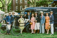1920s inspired street style from the Jazz Age Lawn Party // See more: (http://ny.racked.com/2015/6/16/8786627/jazz-age-lawn-party-2015-photos#?utm_medium=social&utm_source=pinterest&utm_campaign=racked)