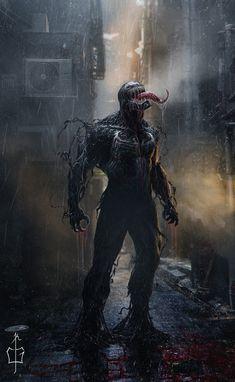 Marvel Venom under the rain Films Marvel, Marvel Villains, Marvel Art, Marvel Dc Comics, Marvel Characters, Marvel Heroes, Marvel Avengers, Venom Spiderman, Marvel Venom