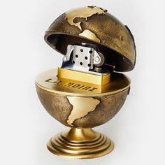L.A. Noire Golden Globe Table Lighter - Rockstar Warehouse Gamer Tags, Cool Lighters, All Video Games, Usa Baby, Light My Fire, Smoking Accessories, Golden Globes, Light Table, Flasks